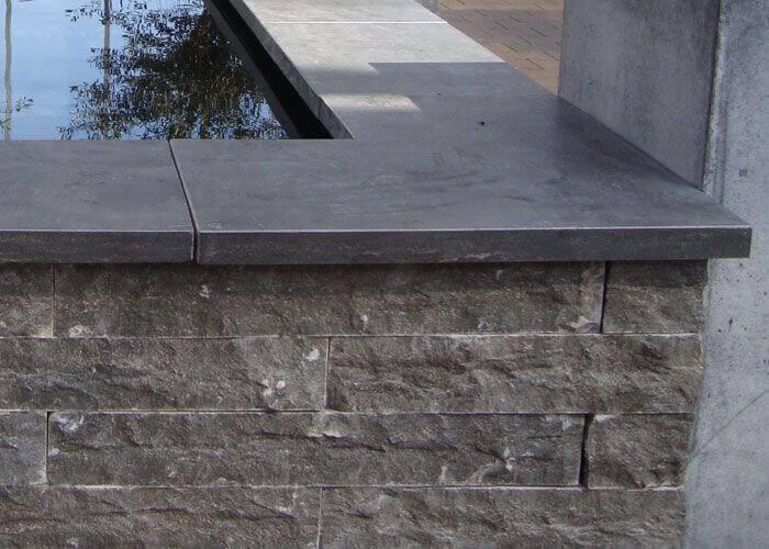 Chinees hardstenen vijverranden met facet - Leisteen muur ...